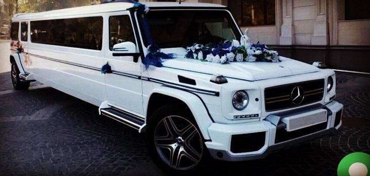 Mercedes Benz G-Klasse in weiß